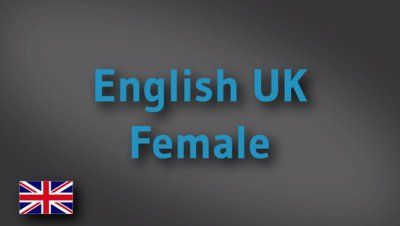 English female voice-over demo reel