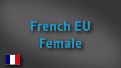 French EU female voice-over demo