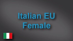 Italian female voice-over demo