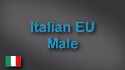 Italian male voice-over demo