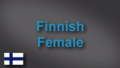 Finnish female voice-over demo