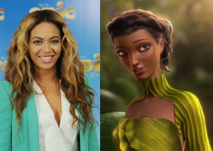 Image of Beyonce and Queen Tara in Epic