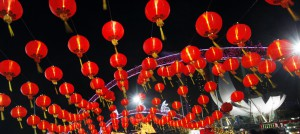 Image of Chinese red lanterns