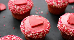 Image of pink heart cupcakes