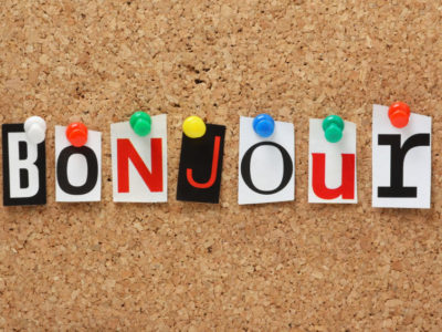 Image spelling bonjour - french phrases