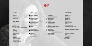 h&m worldwide distribution