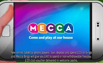 UK voice-over for Mecca Bingo