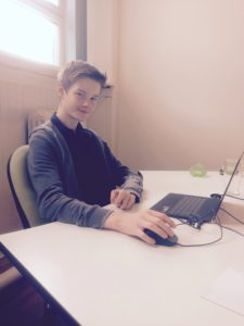Dylan at the office