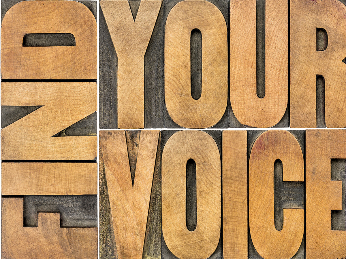 Find Your Voice - Keep the brand identity consistent